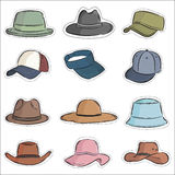 Vector set hat Royalty Free Stock Images