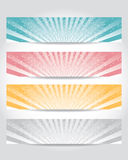 Vector set of header design Royalty Free Stock Image