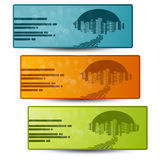 vector set of headers Royalty Free Stock Images