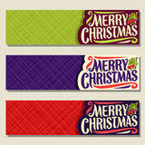 Vector set of headers for Christmas holiday Stock Image