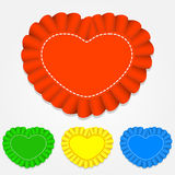 Vector set of heart shaped labels Royalty Free Stock Photography