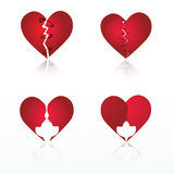 Vector set: hearts. Collection of 4 Valentine's design elements vector illustration