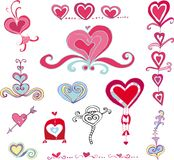 Vector set of hearts royalty free stock image