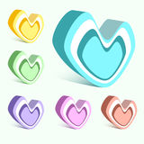 Vector set of hearts Stock Image