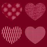 Vector hearts. Stock Photography