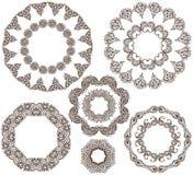 Vector set of henna floral frames Stock Image