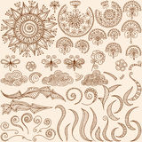 Vector set Henna mehndi doodle design elements Stock Photos