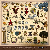 Vector set of heraldic elements Royalty Free Stock Images