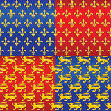 vector Set of heraldic seamless background royalty free stock photos
