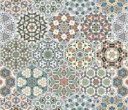 Vector set of hexagonal patterns. royalty free illustration