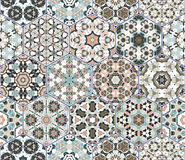 Vector set of hexagonal patterns. Stock Photos