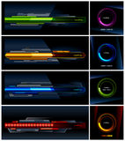 Vector set of high-tech progress indicators Royalty Free Stock Images