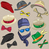 Vector set hipster accessories Royalty Free Stock Photo