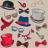 Vector set hipster accessories Royalty Free Stock Image