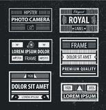 Vector set of hipster minimal geometric linear frames , borders Stock Photography