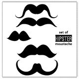 Vector set of hipster mustache Royalty Free Stock Photo