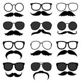 Vector set of hipster mustaches Stock Image