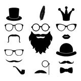 Vector set of hipster photosession accessories Royalty Free Stock Photo