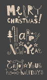 Vector set of holidays signs Royalty Free Stock Photography