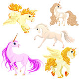 Vector set of horses in motion. Stock Photography