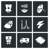 Vector Set of Hospital Icons.  Stock Images