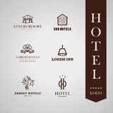 Vector set of hotel and resort logo design. Stock Photo