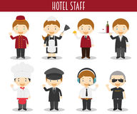 Vector Set of Hotel Staff Professions Royalty Free Stock Image