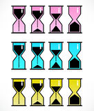 Vector set with hourglasses Royalty Free Stock Photos