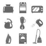 Vector set of household appliances design flat icons. Set of household appliances design flat icons Stock Photos