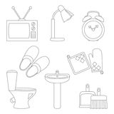 Vector set of household items design flat icons. Vector collection of household items design flat icons Stock Photos