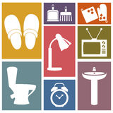 Vector set of household items design flat icons. Vector collection of household items design flat icons Stock Images