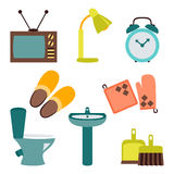 Vector set of household items design flat icons. Vector collection of household items design flat icons Royalty Free Stock Photography