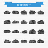 Vector set of houses Stock Image