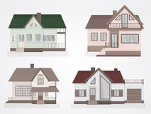 Vector set of houses icons. Royalty Free Stock Images