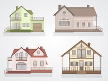Vector set of houses icons. Stock Photos