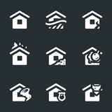 Vector Set of Housing accident Icons. Stock Image