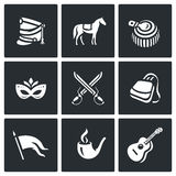 Vector Set of Hussars Icons.  Stock Photos