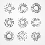 Vector set of hypster outline emblems and badges Royalty Free Stock Image