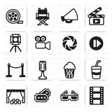 Vector set icon of cinema Royalty Free Stock Photography