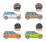 Vector set icons auto theft Royalty Free Stock Photos