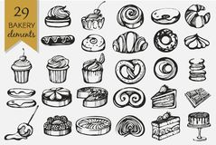 Vector set with bakery products vector illustration