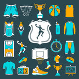 Vector set of icons basketball Royalty Free Stock Image