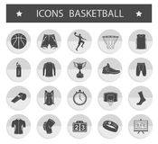 Vector set of icons basketball Stock Image