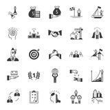 Vector Set of Icons Business Competition. Vector set black icons and symbols on a white background. Business competition sign Stock Photography