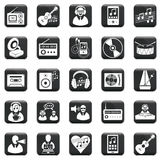 Vector Set Of Icons Royalty Free Stock Photo