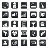 Vector Set Of Icons Royalty Free Stock Images