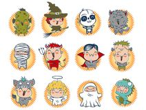 Cute Halloween monsters. Stock Image