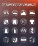 Vector set of icons on cycling Stock Photos