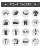 Vector set of icons cycling Royalty Free Stock Photo