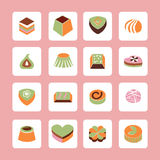 Vector Set icons of Delicious Chocolate Candy Royalty Free Stock Photography